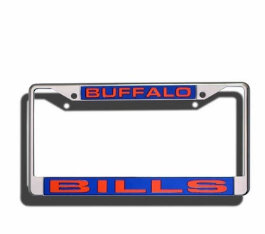 Buffalo Bills Laser Etched Chrome License Plate Frame