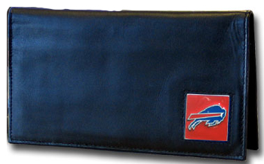 Buffalo Bills Leather Checkbook Cover
