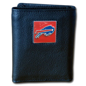 Buffalo Bills Leather Trifold Wallet (F)