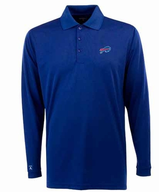 Buffalo Bills Mens Long Sleeve Polo Shirt (Team Color: Royal)