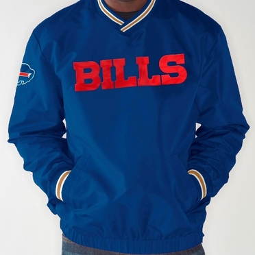 Buffalo Bills NFL Match-Up Wordmark Pullover Embroidered Jacket - Blue