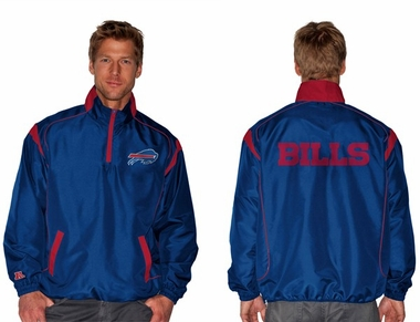 Buffalo Bills NFL Red Zone 1/4 Zip Blue Jacket