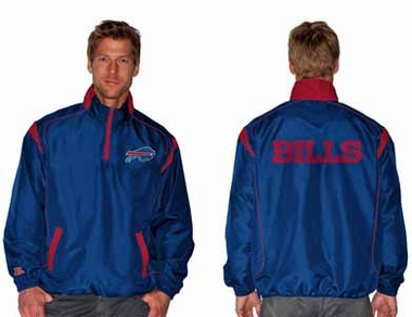 Buffalo Bills NFL Red Zone 1/4 Zip Blue Jacket - Large