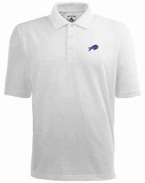Buffalo Bills Mens Pique Xtra Lite Polo Shirt (Color: White)