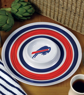 Buffalo Bills Plastic Chip and Dip Plate