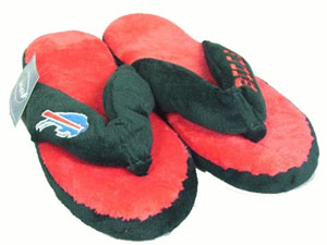 Buffalo Bills Plush Thong Slippers - Large