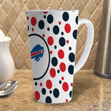 Buffalo Bills Polkadot 16 oz. Ceramic Latte Mug