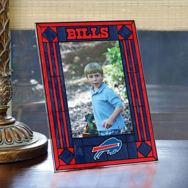 Buffalo Bills Portrait Art Glass Picture Frame