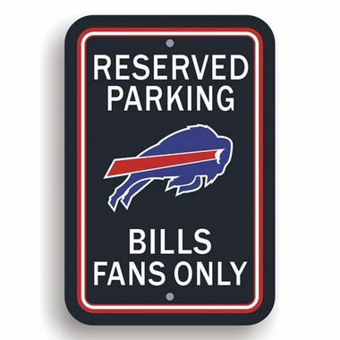 Buffalo Bills Plastic Reserved Parking Sign (P)