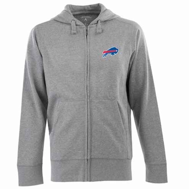 Buffalo Bills Mens Signature Full Zip Hooded Sweatshirt (Color: Gray)