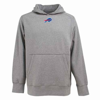 Buffalo Bills Mens Signature Hooded Sweatshirt (Color: Gray)