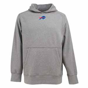 Buffalo Bills Mens Signature Hooded Sweatshirt (Color: Gray) - Small