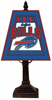 Buffalo Bills Small Art Glass Lamp