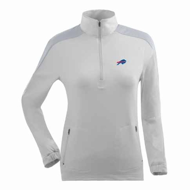 Buffalo Bills Womens Succeed 1/4 Zip Performance Pullover (Color: White)