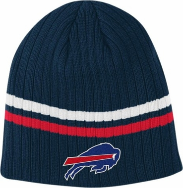 Buffalo Bills Team Stripe Cuffless Knit Hat