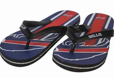 Buffalo Bills Unisex Big Logo Flip Flops - Small