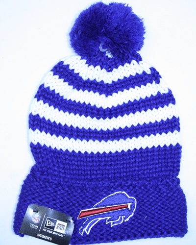 Buffalo Bills Women's New Era NFL Chunky Stripe Fashion Knit Hat