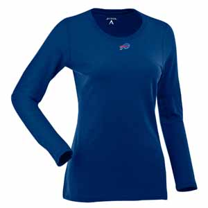 Buffalo Bills Womens Relax Long Sleeve Tee (Team Color: Royal) - Large
