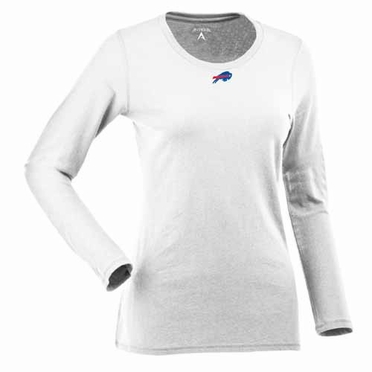 Buffalo Bills Womens Relax Long Sleeve Tee (Color: White)