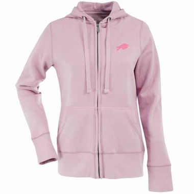 Buffalo Bills Womens Zip Front Hoody Sweatshirt (Color: Pink)