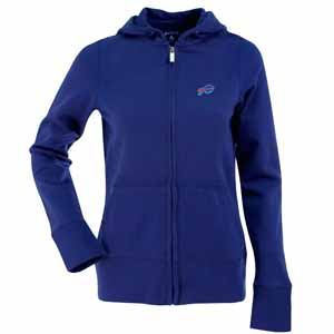 Buffalo Bills Womens Zip Front Hoody Sweatshirt (Team Color: Royal) - Small