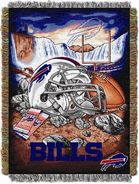 Buffalo Bills Woven Tapestry Throw Blanket