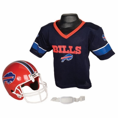 Buffalo Bills Youth Helmet and Jersey Set