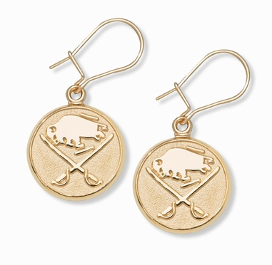 Buffalo Sabres 10K Gold Post or Dangle Earrings