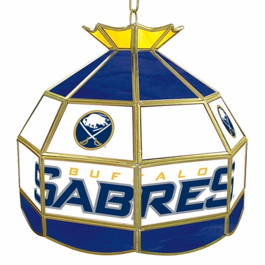 Buffalo Sabres 16 Inch Diameter Stained Glass Pub Light