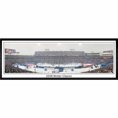 Buffalo Sabres 2008 Winter Classic Framed Panoramic Print