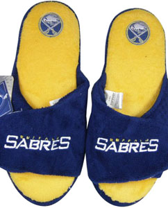 Buffalo Sabres 2011 Open Toe Hard Sole Slippers - Large