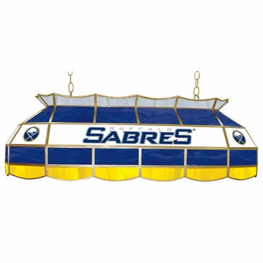 Buffalo Sabres 40 Inch Rectangular Stained Glass Billiard Light