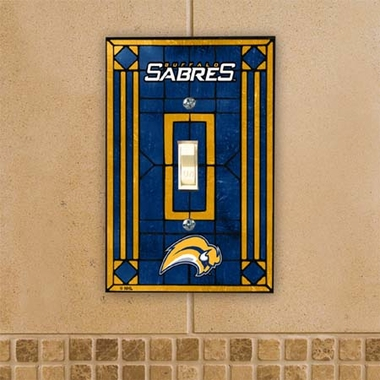 Buffalo Sabres Art Glass Lightswitch Cover