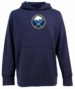Buffalo Sabres Big Logo Mens Signature Hooded Sweatshirt (Team Color: Navy)