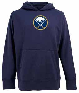Buffalo Sabres Big Logo Mens Signature Hooded Sweatshirt (Team Color: Navy) - Medium