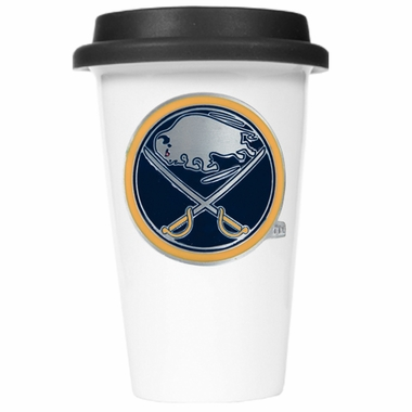 Buffalo Sabres Ceramic Travel Cup (Black Lid)