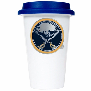 Buffalo Sabres Ceramic Travel Cup (Team Color Lid)