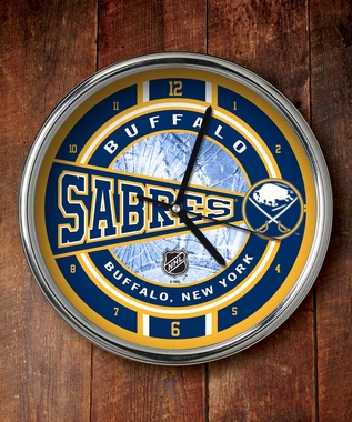 Buffalo Sabres Chrome Clock