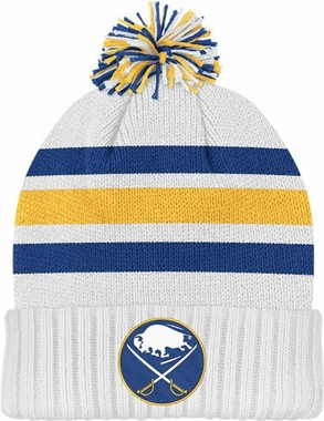 Buffalo Sabres Cuffed Knit Pom Hat