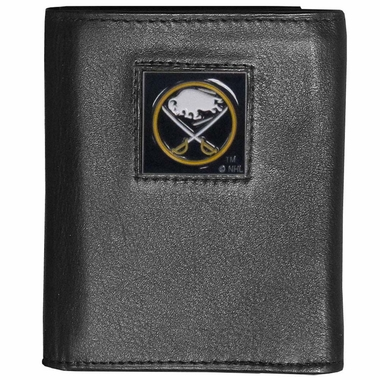 Buffalo Sabres Deluxe Leather Tri-fold Wallet (F)