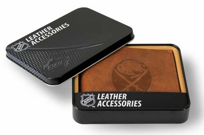 Buffalo Sabres Embossed Leather Bifold Wallet