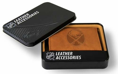 Buffalo Sabres Embossed Leather Trifold Wallet
