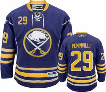 Buffalo Sabres Jason Pominville Team Color Premier Jersey - Large