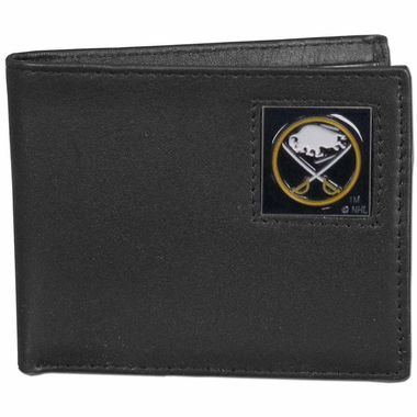 Buffalo Sabres Leather Bi-fold Wallet (F)