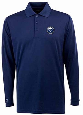 Buffalo Sabres Mens Long Sleeve Polo Shirt (Team Color: Navy)