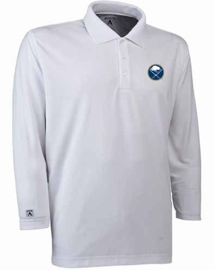 Buffalo Sabres Mens Long Sleeve Polo Shirt (Color: White)