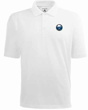 Buffalo Sabres Mens Pique Xtra Lite Polo Shirt (Color: White)