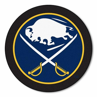 Buffalo Sabres Puck Shaped Rug