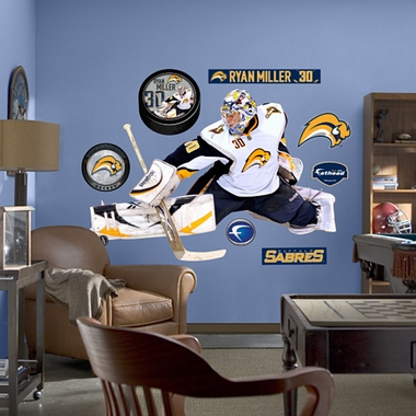 Buffalo Sabres Ryan Miller Fathead Wall Graphic