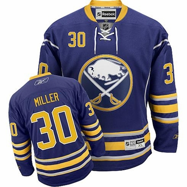 Buffalo Sabres Ryan Miller Reebok Team Color Premier Jersey